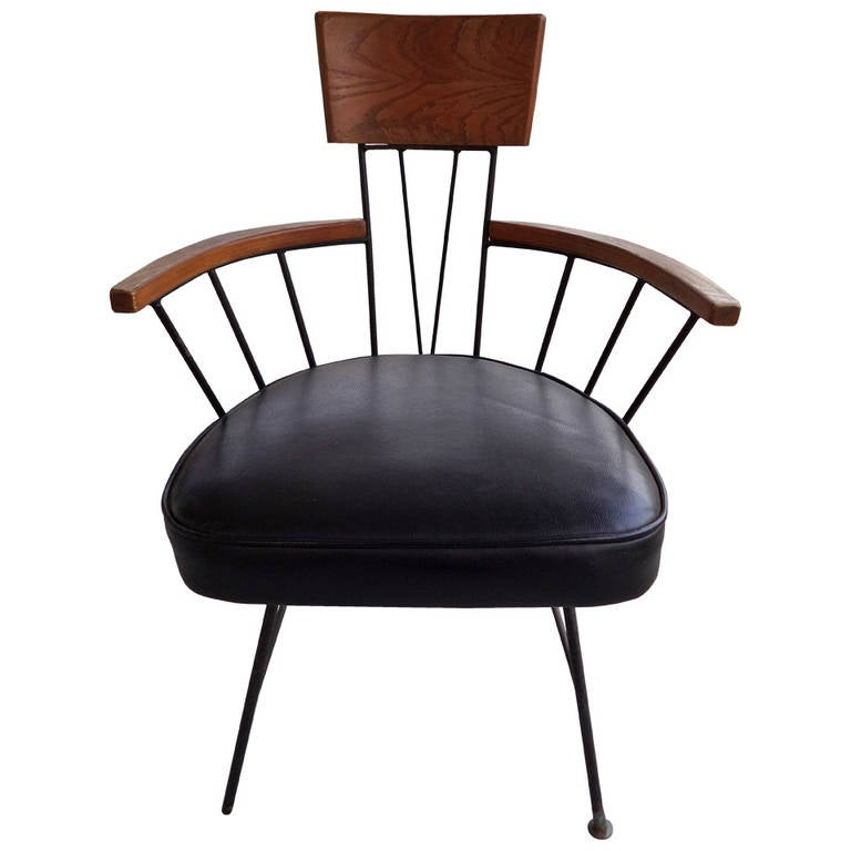 Richard Mccarthy For Selrite Wrought Iron Chair At 1stdibs