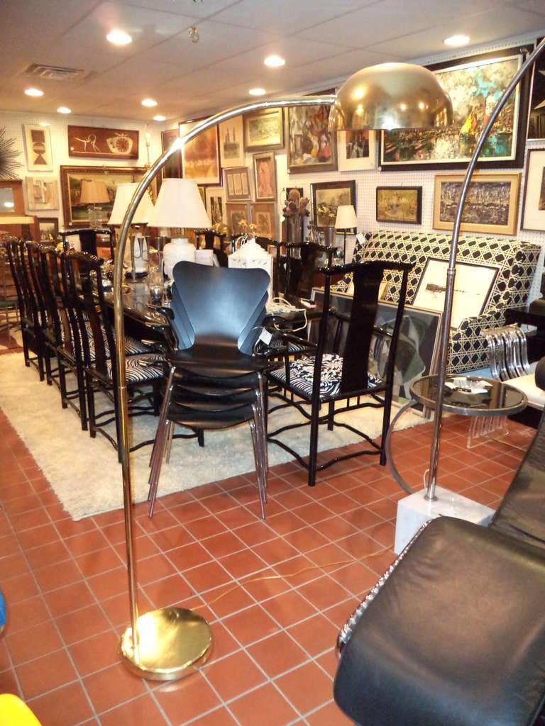 Vintage Brass Arc Floor Lamp At 1stdibs