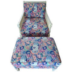 1970's Lounge Chair and Ottoman