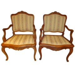 ON SALE-Pair of French Louis XV Style Armchairs