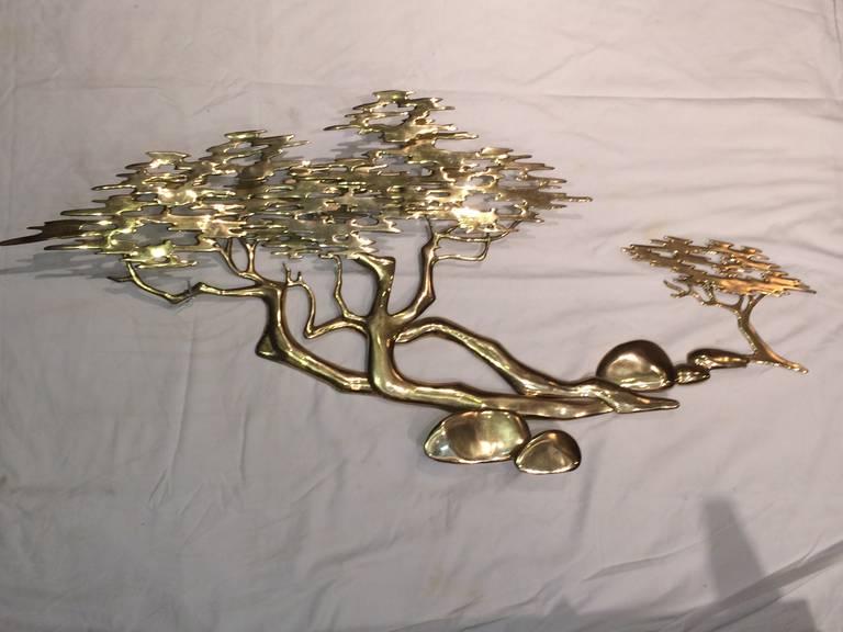 Brass Bonsai Tree Wall Sculpture By Bijan At 1stdibs