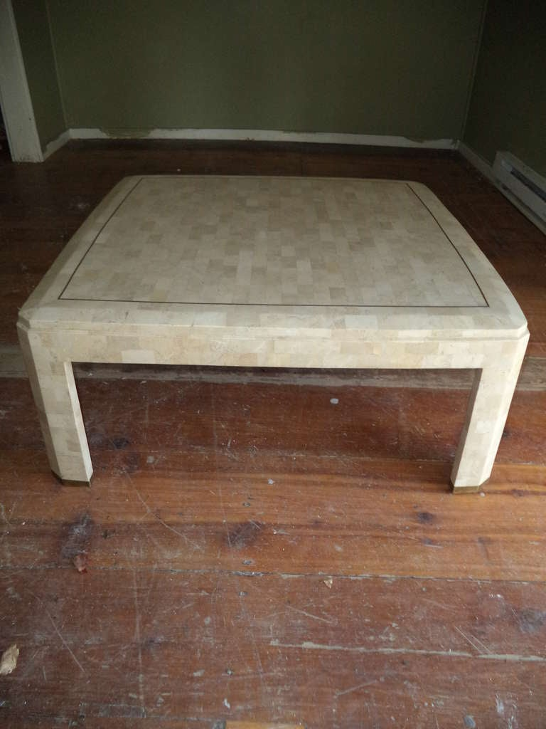 Maitland Smith Tessellated Fossil Square Coffee Table At 1stdibs