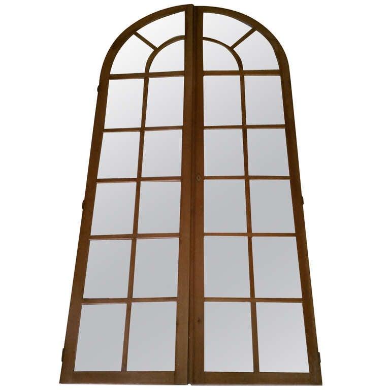 Antique Palladian Mirrored Doors