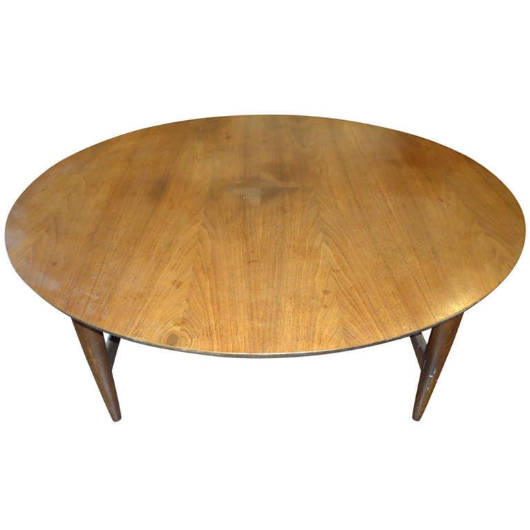 Mid Century Modern Round Coffee Table For