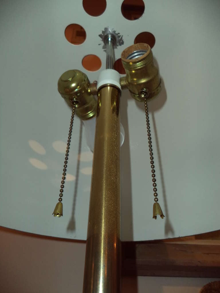 Vintage Brass Mushroom Floor Lamp By Laurel Lamp Company