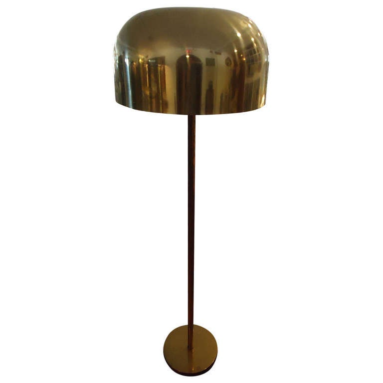 Attractive Vintage Brass Mushroom Floor Lamp By Laurel Lamp Company At 1stdibs