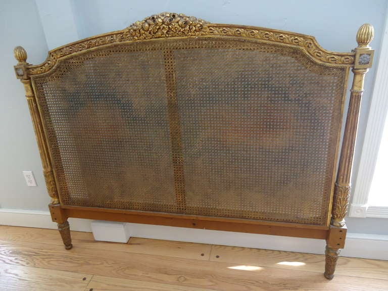antique headboards for sale Antique French Caned Headboard at 1stdibs antique headboards for sale