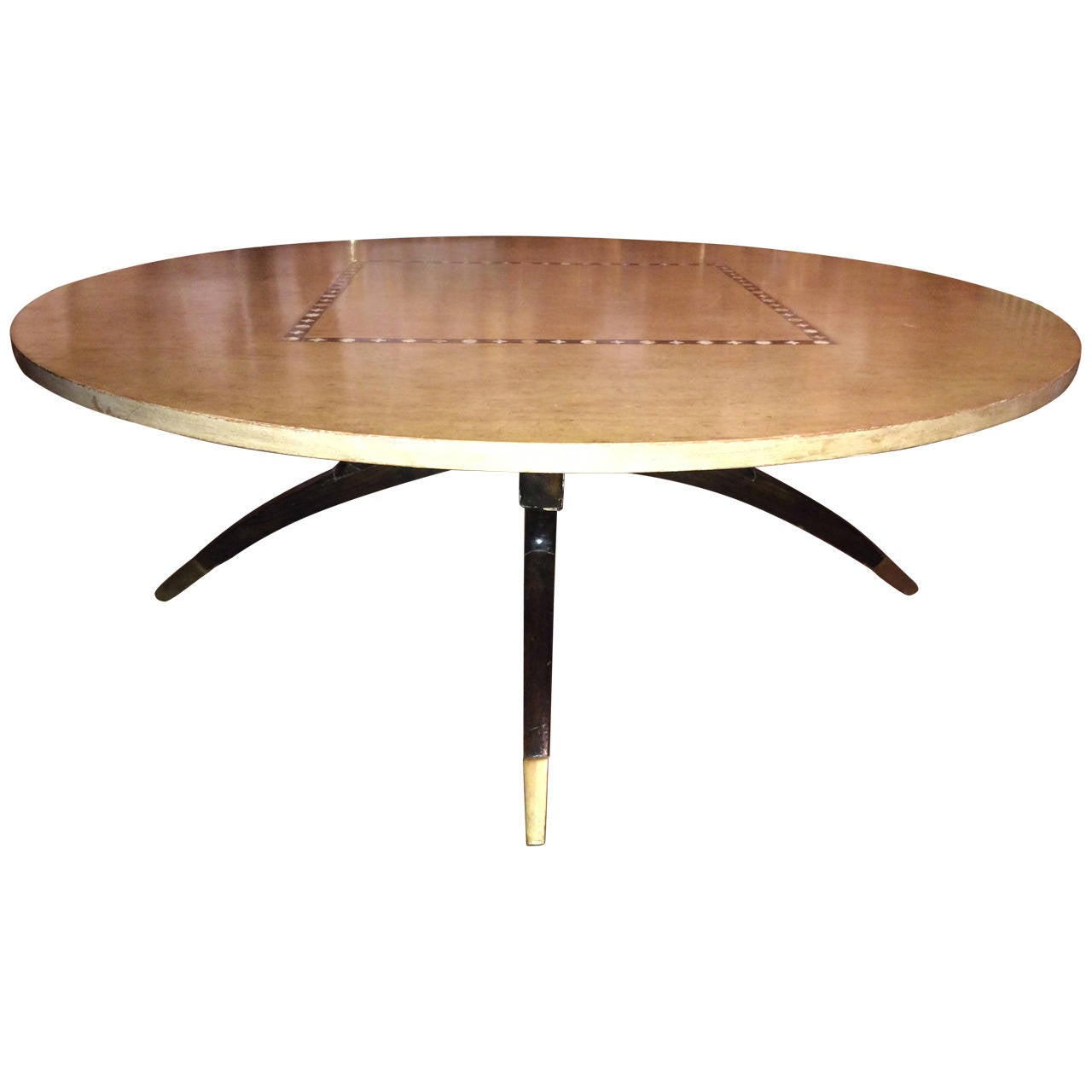 Moroccan Style Round Coffee Table With Inlay At 1stdibs