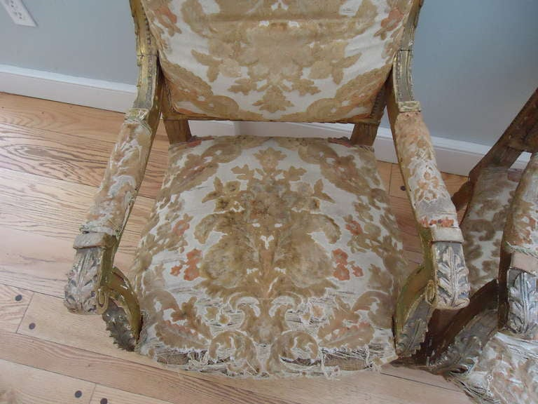 Pair of Louis XVI Giltwood Fauteuils 10