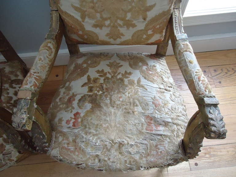 Pair of Louis XVI Giltwood Fauteuils 9