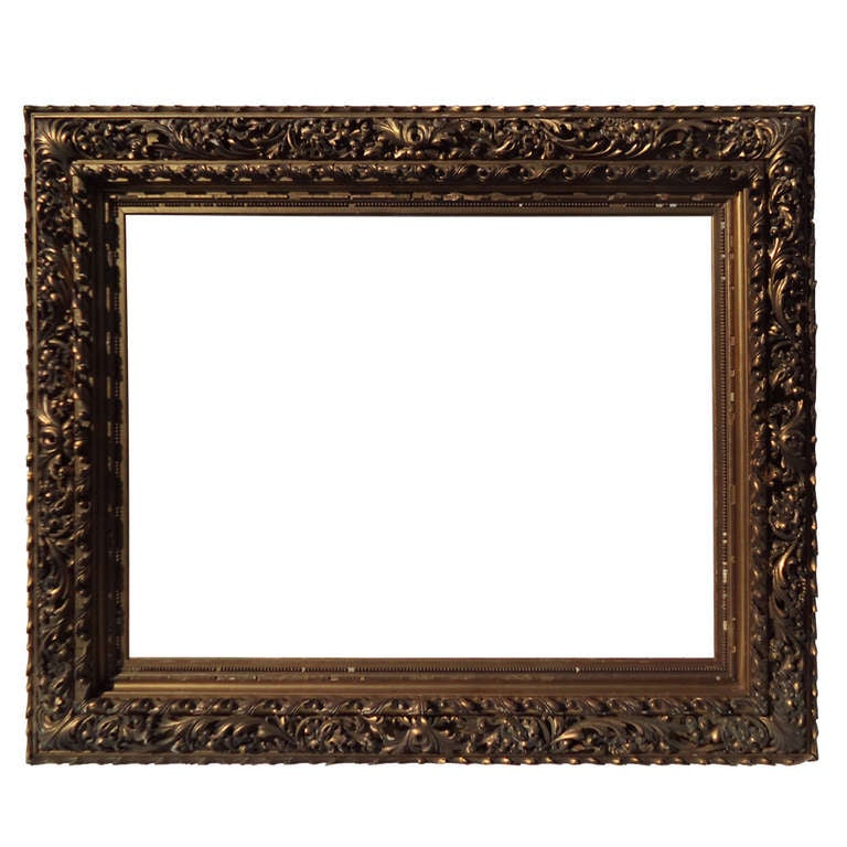 museum quality 19th century hand carved and gilded frame 1