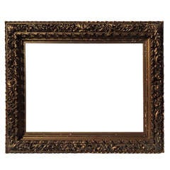 Museum Quality 19th Century Hand-Carved and Gilded Frame