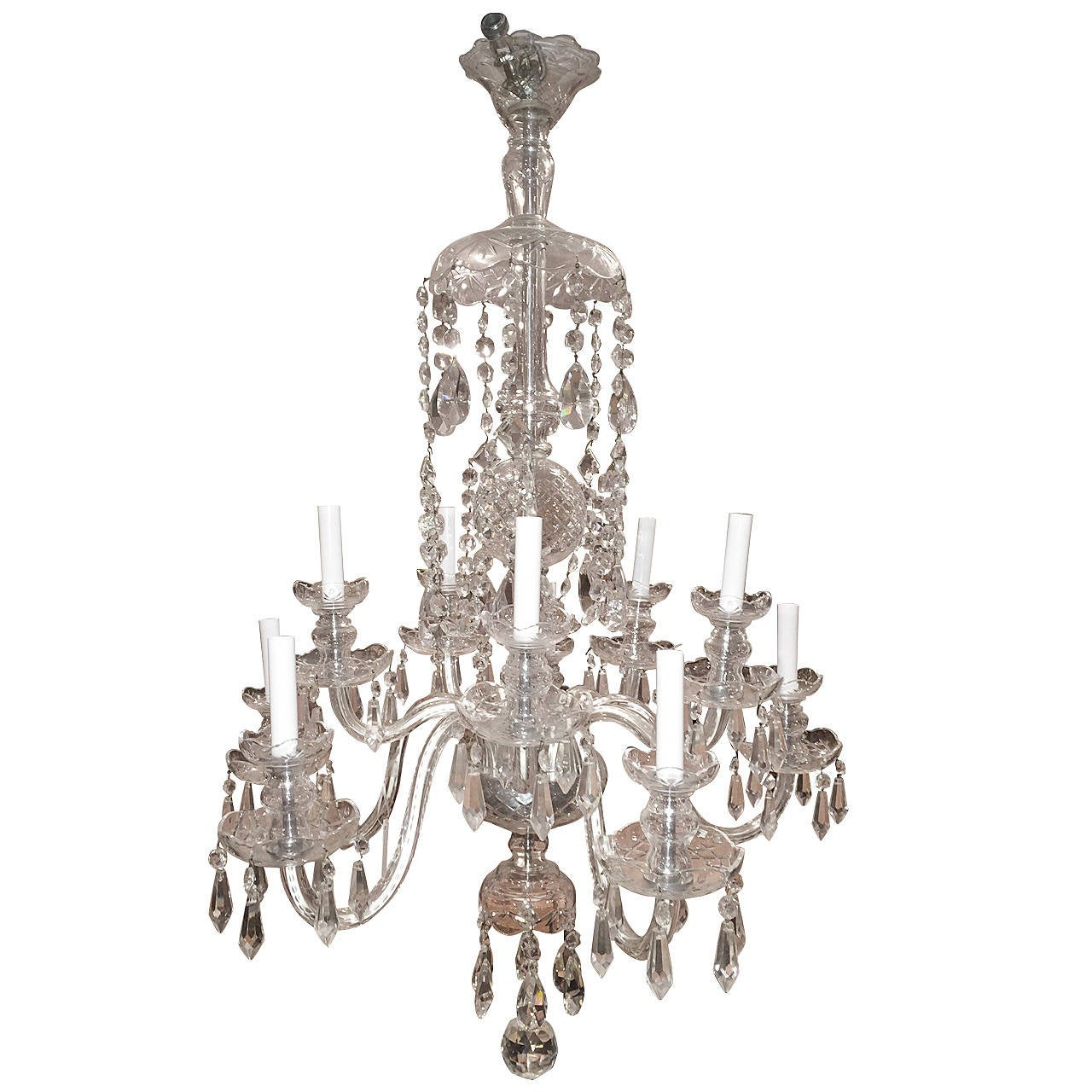Elegant ten arm crystal chandelier in the style of waterford at 1stdibs elegant ten arm crystal chandelier in the style of waterford for sale arubaitofo Choice Image