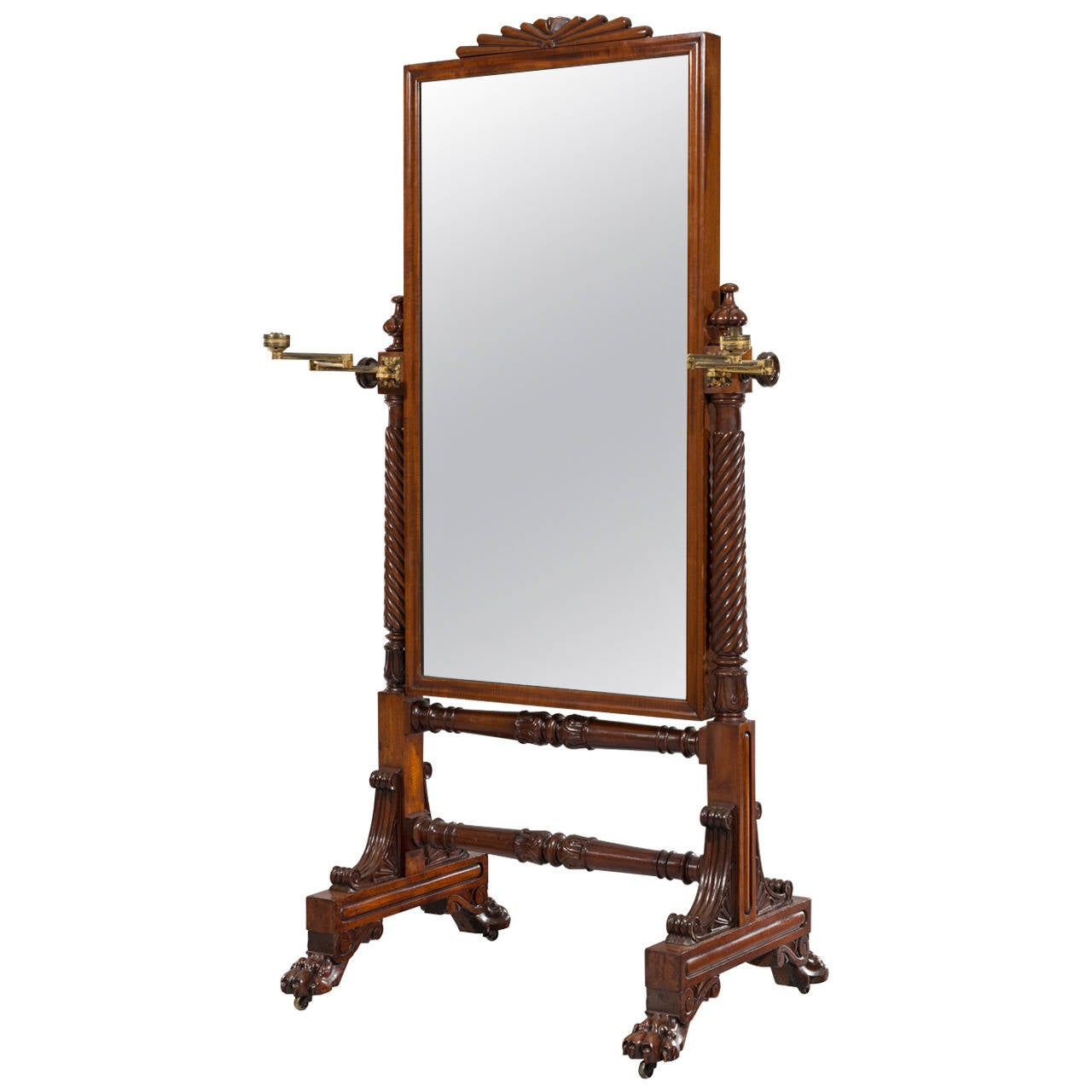 George iv mahogany cheval dressing glass mirror from the for Cheval mirror