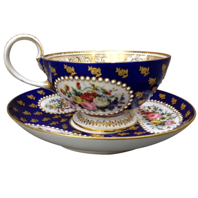 Fantastic Oversized Sevres Cabinet Cup And Saucer C 1870