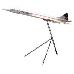 Large-Scale Vintage Aircraft Model of Concorde.