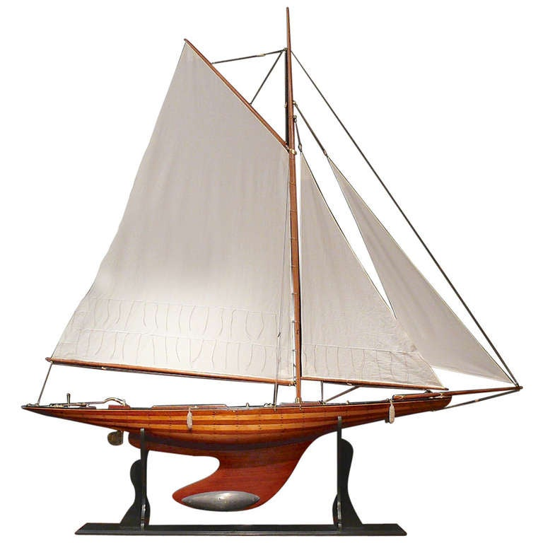 Large Pond Yacht Nyria At 1stdibs