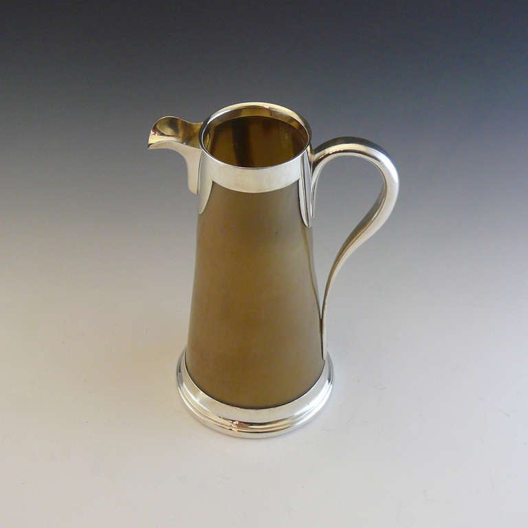 Horn Jug With Silver Plate Mounts Circa 1880 At 1stdibs