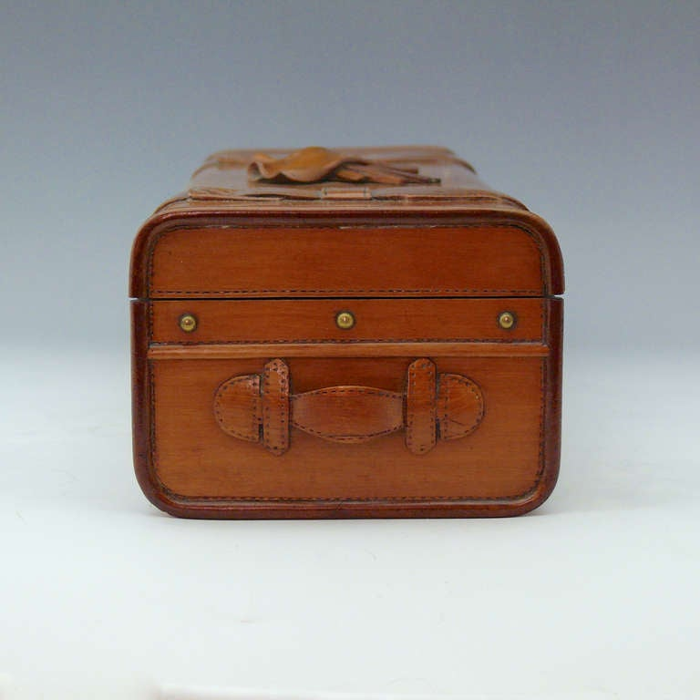 Wooden Glove Box ~ Carved wooden glove box at stdibs