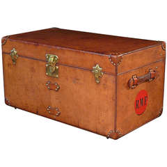 Leather Louis Vuitton Steamer Trunk circa 1900