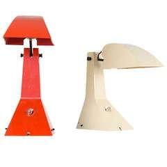 "Pair of ""E63"" Table Lamps by Umberto Riva for Francesconi, 1963"