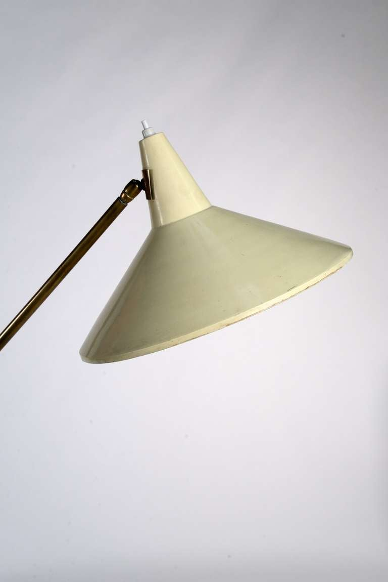 Exquisite 50s Double Arm Floor Lamp At 1stdibs