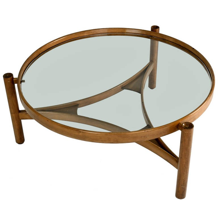 Round Coffee Table By Gianfranco Frattini For Cassina At 1stdibs
