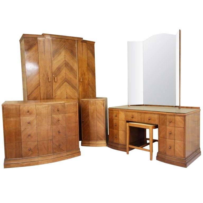 Rare Antique Heals Bedroom Furniture. 2 Pieces Available