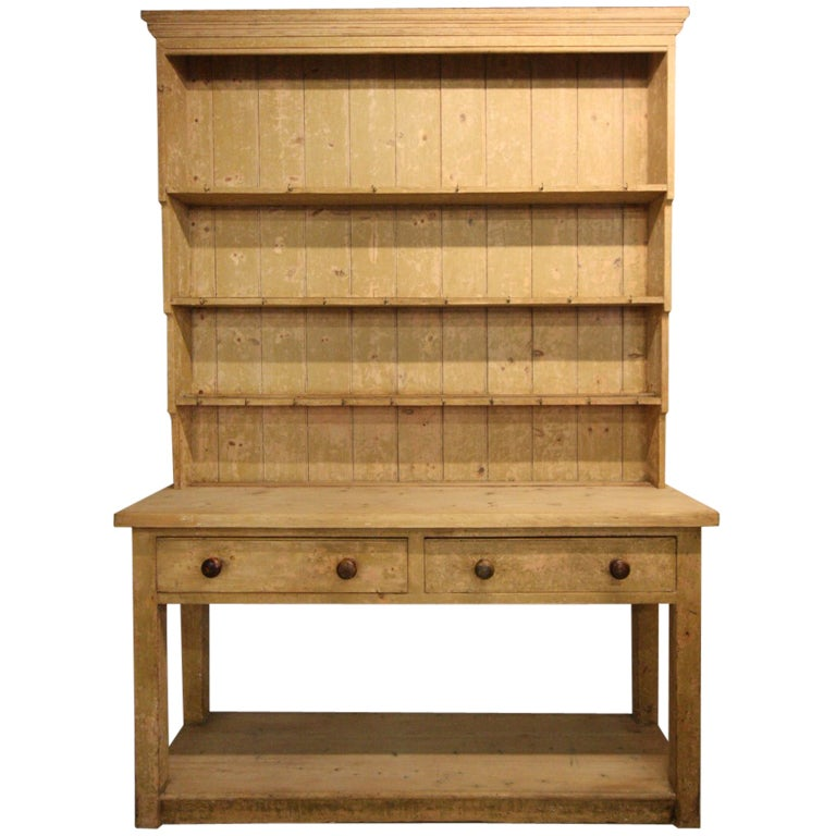 Georgian Antique Painted Pine Kitchen Dresser At 1stdibs