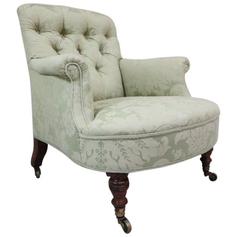 Howard And Sons Antique Upholstered Armchair At 1stdibs
