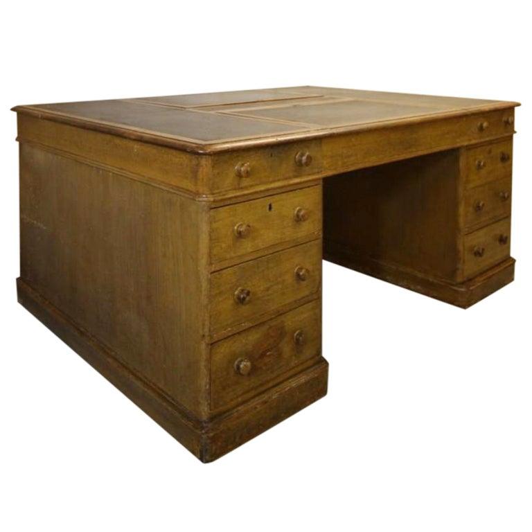 Huge Antique Double Sided Partners Desk. at 1stdibs