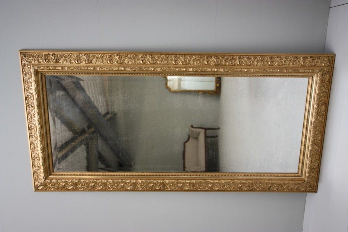 Decorative english antique gilt mirror at 1stdibs for Vintage floor length mirror