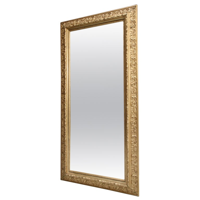 Decorative english antique gilt mirror for Decorative floor length mirrors