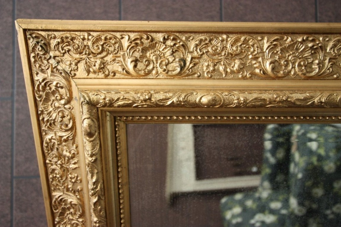 Decorative english antique gilt mirror at 1stdibs for Decorative floor length mirrors