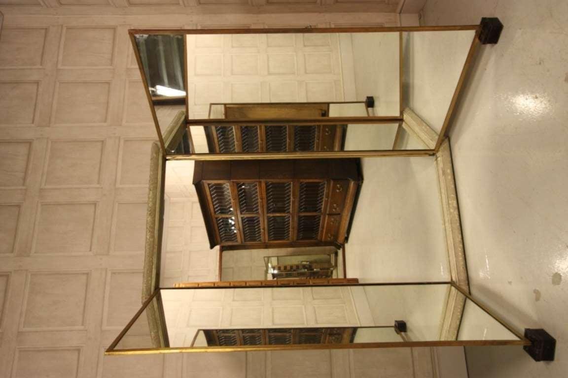 Antique miroir brot triptych mirror from paris at 1stdibs for Miroir venitien paris