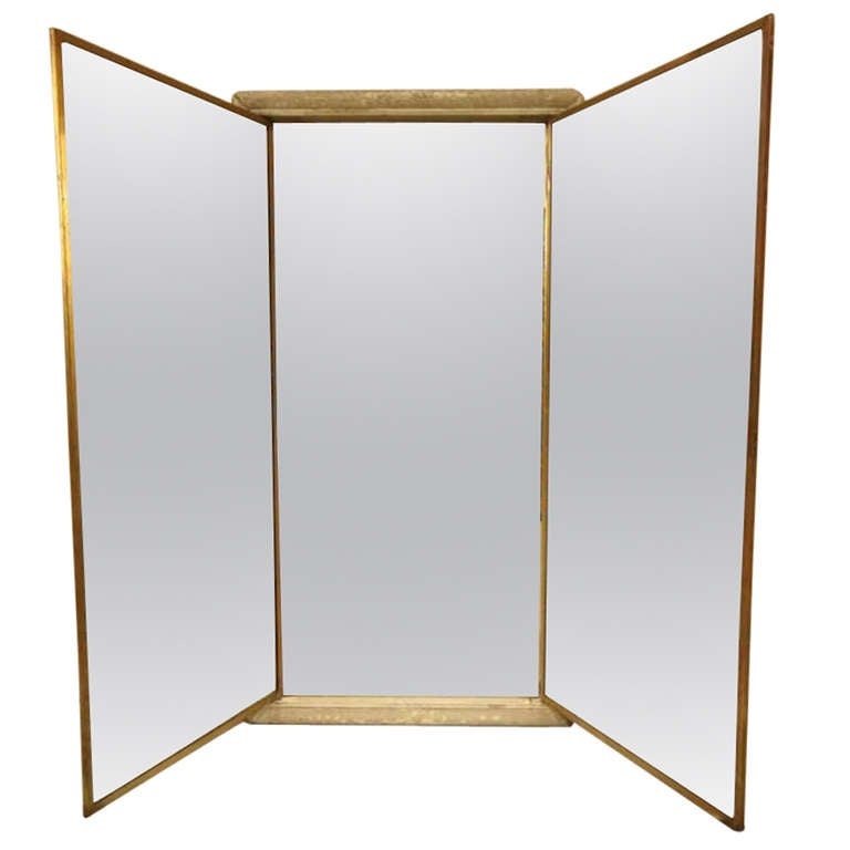 antique miroir brot triptych mirror from paris at 1stdibs