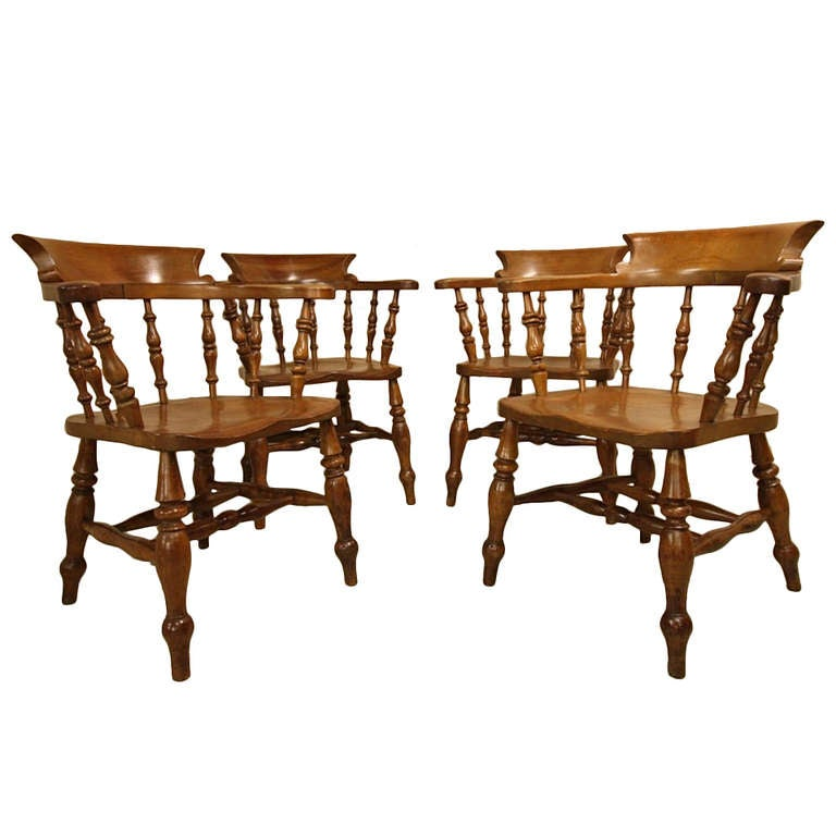 great set of four antique captains chairs at 1stdibs