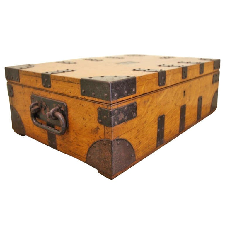 Decorative Storage Boxes Vintage : Antique metal and oak silver chest by mappin webb at