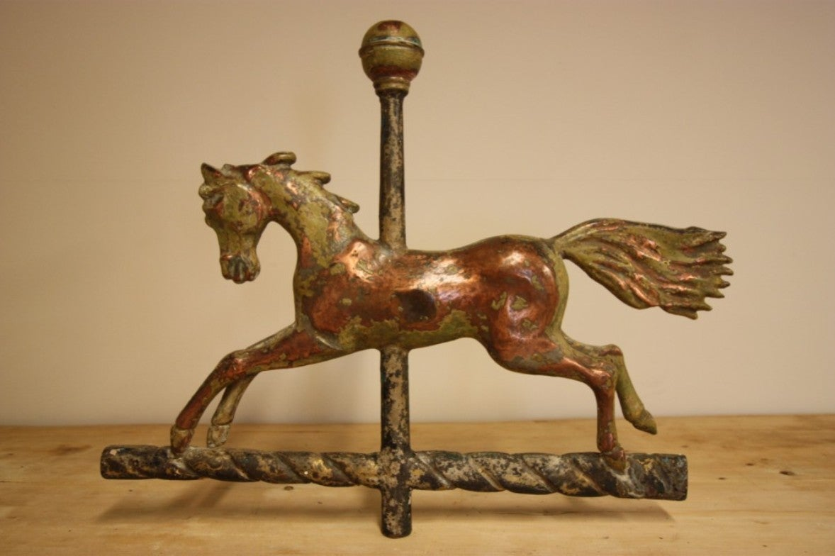 Vintage Weather Vane: 19th Century Antique Copper Horse Weathervane. At 1stdibs