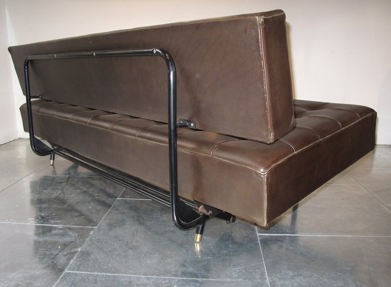 Bbpr leather sofa daybed at 1stdibs - Tete cherry bed ...