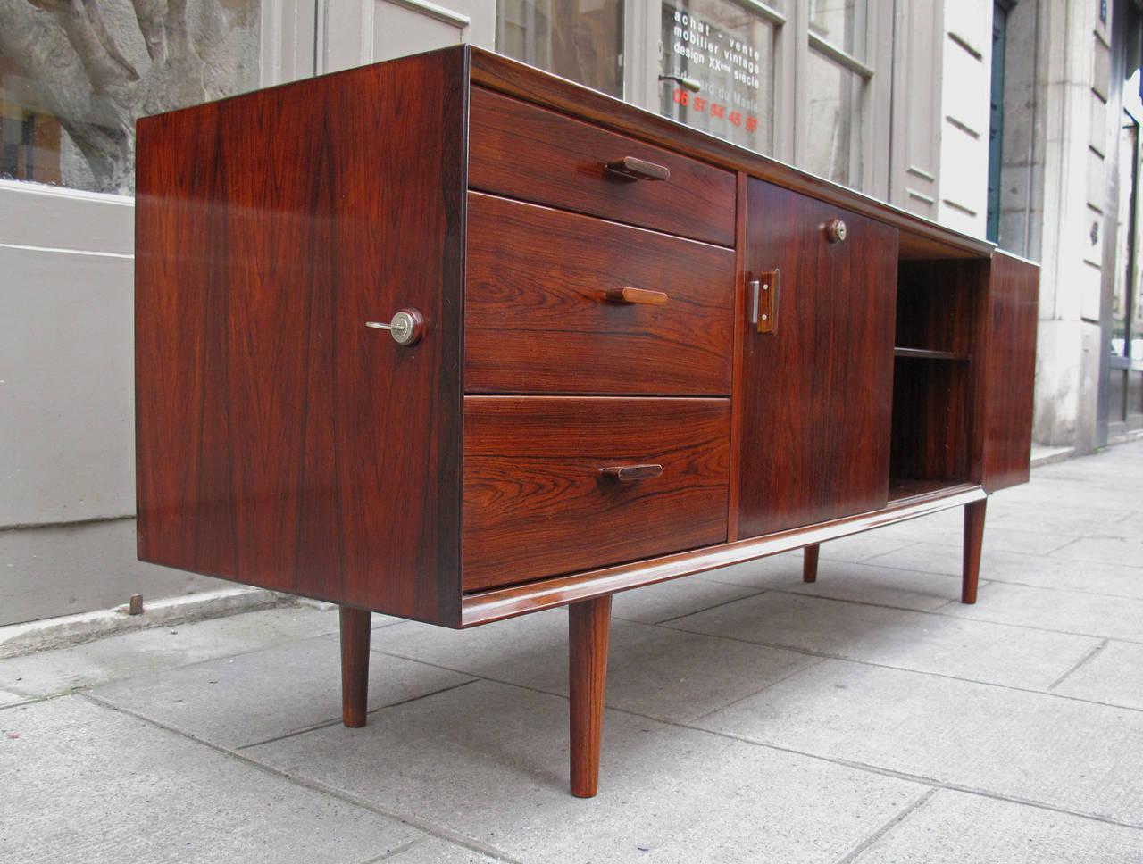 arne vodder rosewood sideboard for sibast at 1stdibs. Black Bedroom Furniture Sets. Home Design Ideas