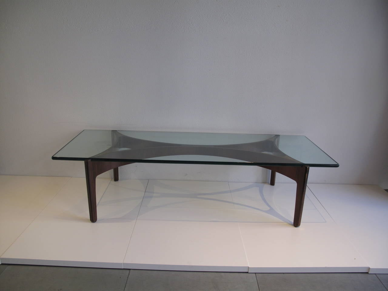 Sven Ellek R Coffee Table With A Rosewood Frame At 1stdibs