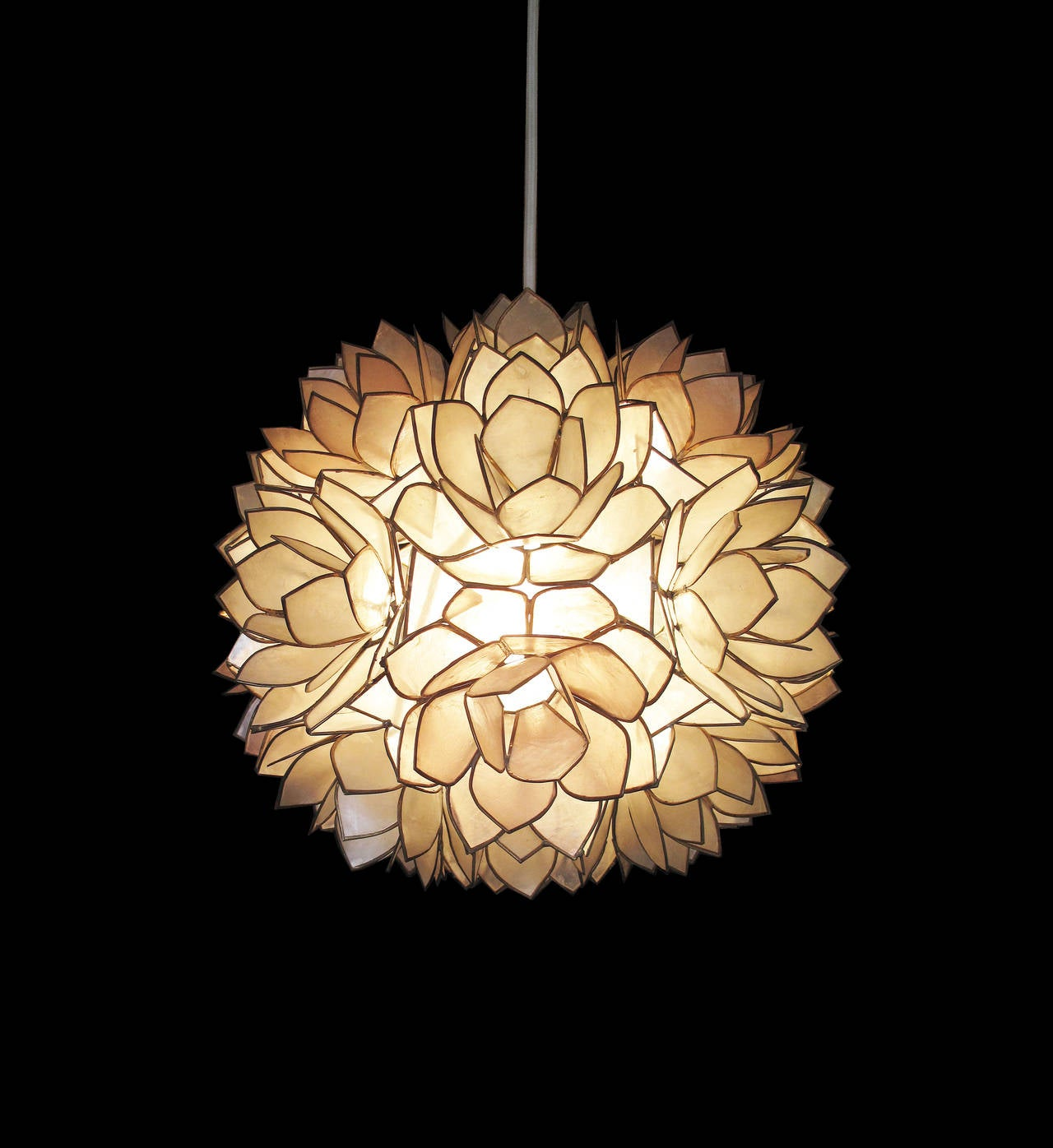 of pearl shell pendant light at 1stdibs