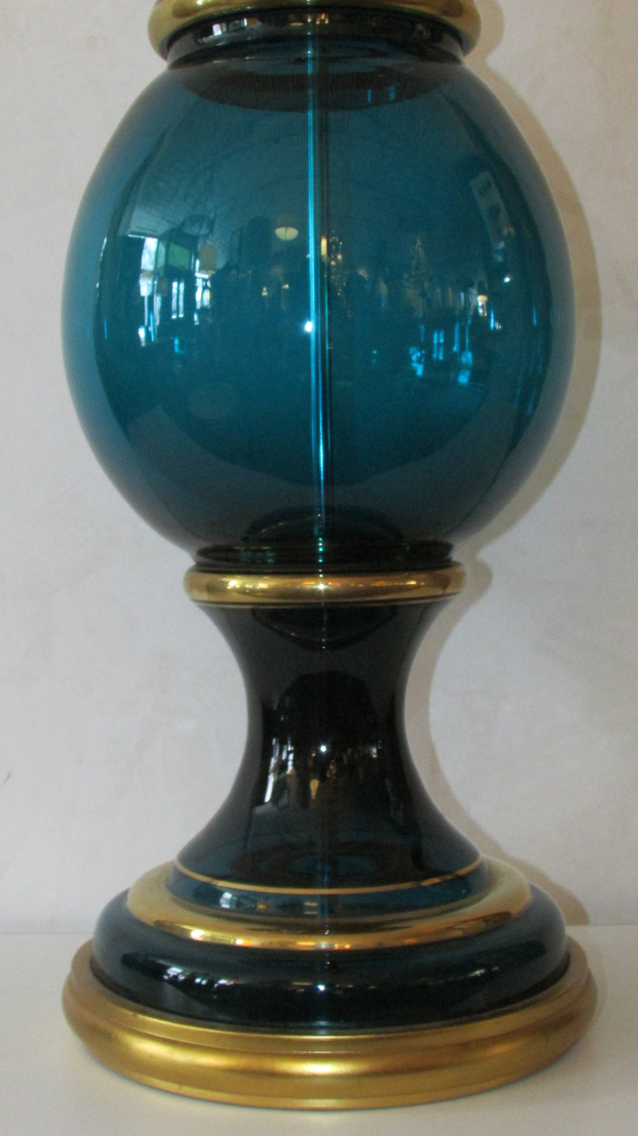 Murano Glass Lamp by Marbro In Good Condition For Sale In Rochester, NY