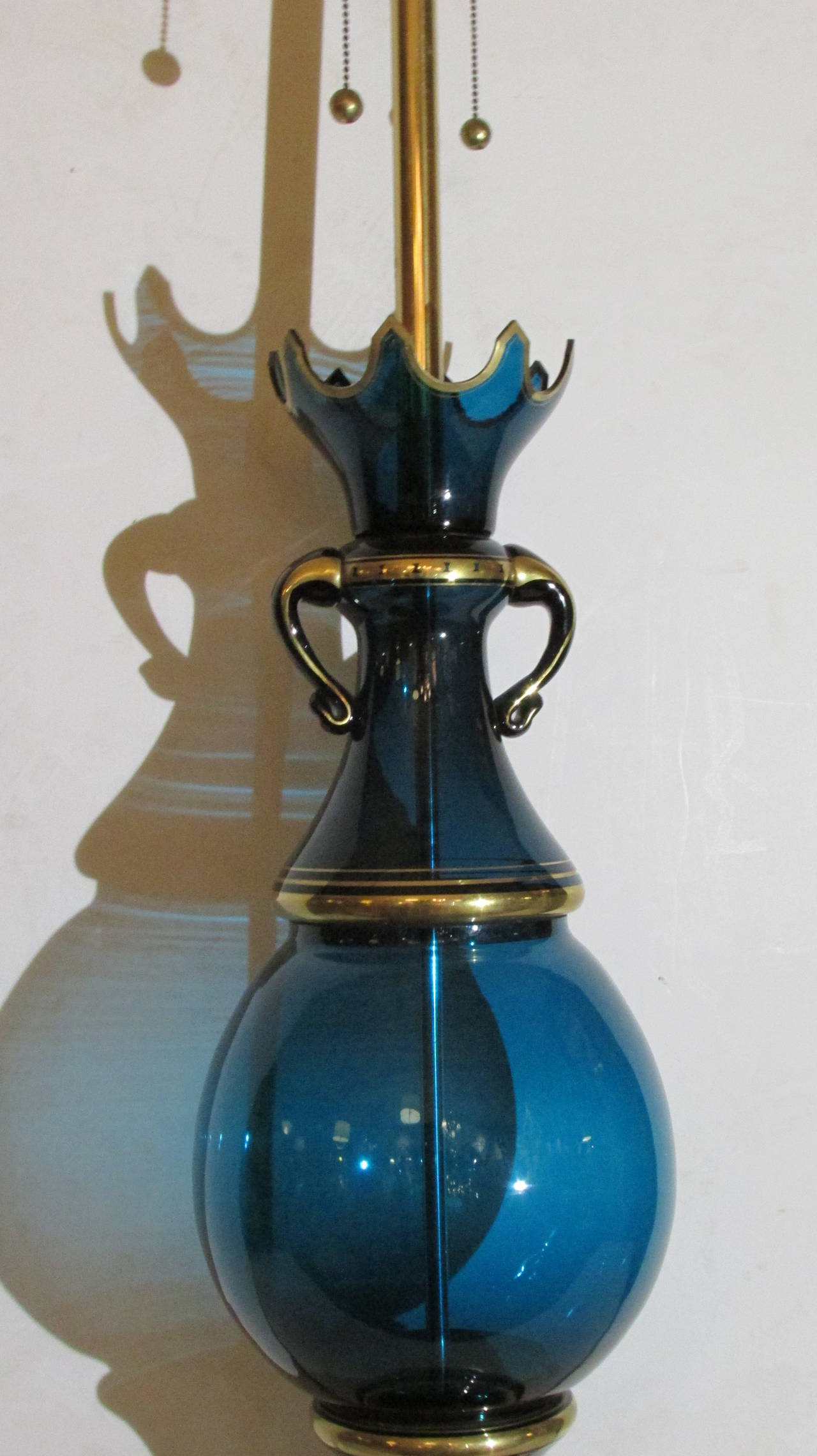 Murano Glass Lamp by Marbro For Sale 1