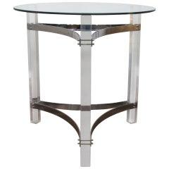 Acrylic & Chromed Steel Table