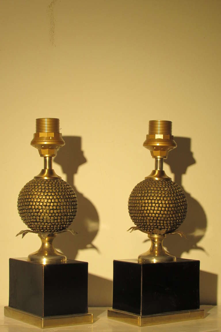 Maison Charles Pomegranate Form Lamps At 1stdibs