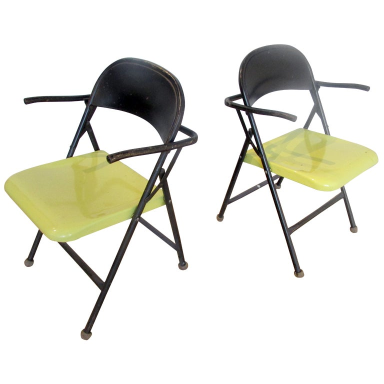 Bauhaus Style Metal Folding Chairs at 1stdibs