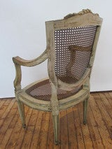 18th Century Painted French Armchair At 1stdibs