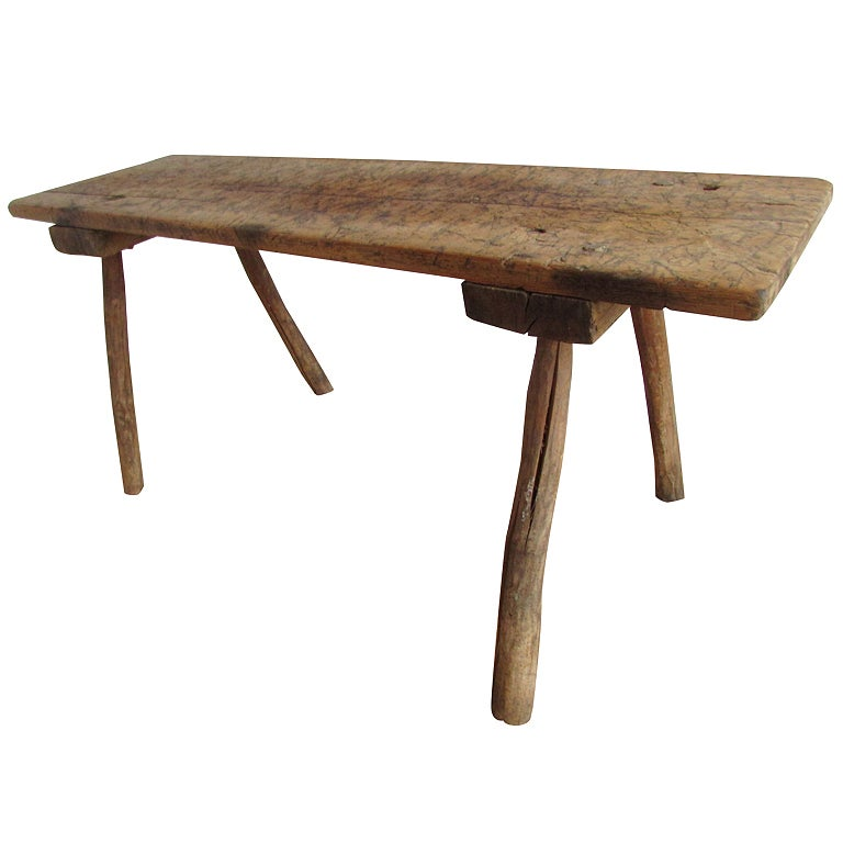 19th Century American Primitive Butcher Table At 1stdibs